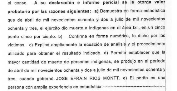 Excerpt from conclusion in Ríos Montt trial