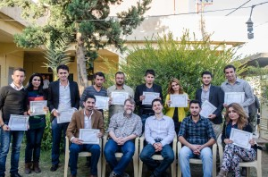 Graduation in the garden at Lalish Center, Sharya Branch.