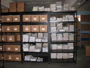 Organized police documents at the AHPN.