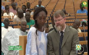 Patrick Ball testifying at Habré's trial (with translator), 18 Sept. 2015